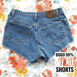 Polo Ralph Lauren VINTAGE Cut-Off Wedgie Shorts